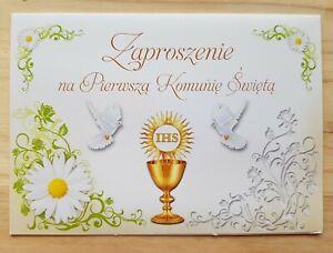 Zaproszenie na Pierwsza Komunie Swieta 1 szt /1×Communio invitation/zaproszenia/