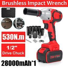 Cordless Electric Impact Wrench Gun 12 Driver 520nm Battery Socket Case