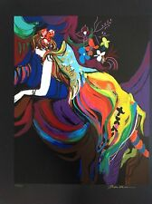 Isaac Maimon Serigraph Signed & Number 15/275 With C.O.A Very Rare Art