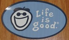 Life is Good Sticker Oval Jake Face Light and Dark Blue New/Retired