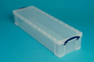 Really Useful 22 Litre Clear Plastic Storage Box - DVD wrapping paper box