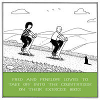 Exercise Bikes Funny Fred Birthday Card Rupert Fawcett Humour Greeting Cards