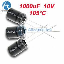 100PCS 1000uF 10V 105°C Radial Electrolytic Capacitor 8x12mm