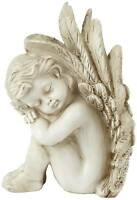 "Sleeping Angel Facing Right 9 1/2"" High Figurine"