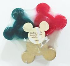 Mickey Mouse Disney Store Floating Candles 3 Pack Gold Red Green