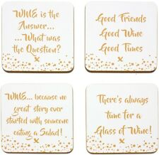 Set of 4 Wine Coaster Coffee Table Place Mats Drinks Coasters Placemats
