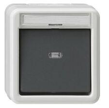 GIRA Aufputz System IP 44 Grau Kontrollschalter 011630