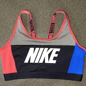 Nike Dri-Fit Sports Bra Red/Blue Size Medium