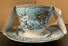 222 FIFTH ADELAIDE TURQUOISE TEA CUP & SAUCER SET