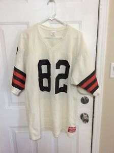 VINTAGE 1980's Cleveland Browns Ozzie Newsome Rawlings Official Jersey NWOT XL