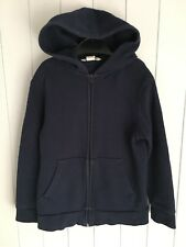 Boys basic blue hoodie with zip size 6-8 years PE H&M