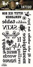 Temporary Tattoo Words Letters Body Art Removable HM290