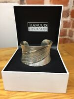Tianguis Jackson Wide Sterling Silver Cuff Bracelet With Striking Pattern