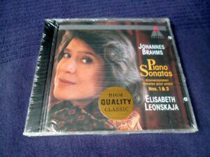 CD Elisabeth Leonskaja JOHANNES BRAHMS Piano Sonatas Nos. 1&3 Teldec 1990 SEALED
