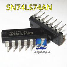 5 PCS SN74LS74AN DIP-16 74LS74 DUAL D-TYPE POSITIVE-EDGE-TRIGGERED FLIP-FLOPS