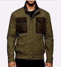 Calvin Klein Jeans men's modern style military field jacket size large on SALE
