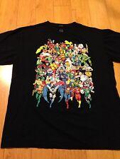 VINTAGE STYLE SUPER-HEROES DC COMICS T-Shirt Sz XL Pristine