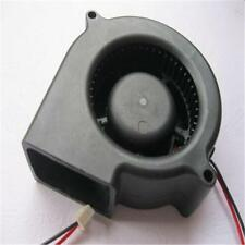 Black Brushless DC Cooling Blower Fan 2 Wires 5015S 12V 0.12A 50x15mm JB