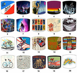 Cycling Tour DE France Lampshades, Bicycle & Racing Bikes Light Shades, Lighting