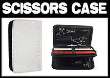 Hairdressing Double Layered White Case/Pouch For Hair Scissors and combs BH-22