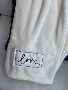 Rae Dunn LOVE Throw Blanket 50x60 Farmhouse Style Soft Cozy HTF! NEW! #1986