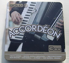 ACCORDEON .Y.HORNER, AZZOLA , PRUD'HOMME,SEGUREL,PRIVAT ect. 3 CD METAL BOX NEUF