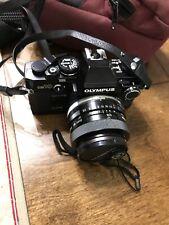 Olympus Om-10 35mm Slr Film Camera Black Body,Vintage Comes With Case.