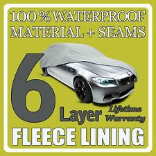 6 Layer Car Cover Breathable Waterproof Layers Outdoor Indoor Fleece Lining Sia