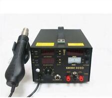 220V Saike 909D 3 In 1 Rework Station With Hot Air Gun Smd Soldering Tool