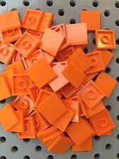Lego 100 Tiles Orange Smooth Finishing Tile 2x2 MODULAR BUILDINGS
