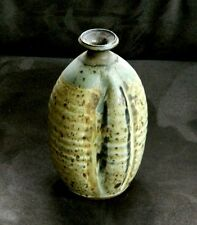 Signed DeArmond Studio Vase w/ 4 Lobes & Dyanamic Dripping Glazes + Tiny Opening
