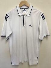 Vintage Adidas White Climalite Short Sleeve Polo Neck Top Size 38/40