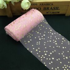 Soft Sequins Star Tulle Rolls Fabric Glitter DIY Wedding Birthday Party Supplies