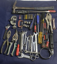 Hand Tool Lot Hammer Screwdrivers Wrenches Snips Pliers Sockets Used