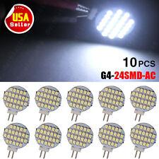 10pcs Pure White AC/DC 12V G4 24 SMD LED Reading Marine Boat Spot Light Lamps US