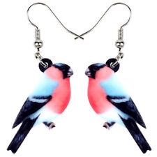 Acrylic Bullfinch Bird Earrings Dangle Fashion Jewelry For Women Girl Decor Gift