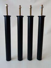 PIEDS DE LIT / SOMMIER X4 - Métal - Ø30 - HAUTEUR : 30cm - NOIR (PL300NR30)