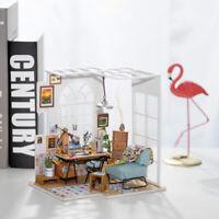 ROBOTIME DIY Büro Miniatur Möbel Puppenhaus Kits Geburtstagsgeschenk für Freunde