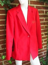 Vintage MARY KAY COSMETICS Red Blazer Jacket Size Size 6 Petite Small Brookhurst