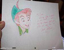 Original Mark Mitchell Walt Disney Illustrator color Color Sketch of Peter Pan