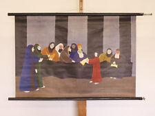 Imagen de pared Jesús Cristo 12-paciente en el templo 96x66cm ~ 1965 vintage Temple Chart
