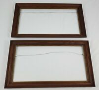 "Vintage Pair Oak Picture Frames Federal Style 27"" x 15"" Fits 24"" x 12"""