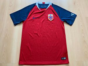 2018 19 Norwegen Fußball Trikot Norway Football Jersey Soccer Shirt Norge Nike S