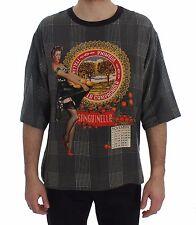 NUOVO DOLCE & Gabbana T-shirt collo tondo sanguinella ITALIA di seta con stampa