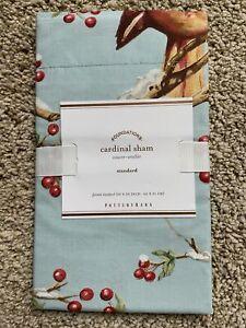 Pottery Barn CARDINAL Bird & Berries STANDARD Shams - NEW NLA (multiple)