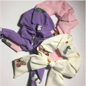 Unbranded 3 Pieces Butterfly Print Bow Scrunchies New With Tags One Size