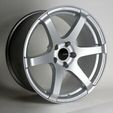 18x8.5 Enkei T6S 5x114.3 +25 Silver Rims Fits Eclipse Camry Civic Tc