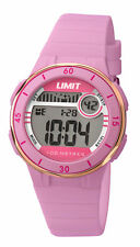 Limit Active Digital Watch Pink Silicon Strap Gold Bezel 5557 RRP £29.99