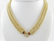 """14k Yellow Gold Braided Rolo Link Toggle Clasp Chain Necklace  30.8 g  17 3/4 """""""