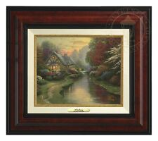 Thomas Kinkade Quiet Evening Canvas Classic (Burl Frame) Classic Collection